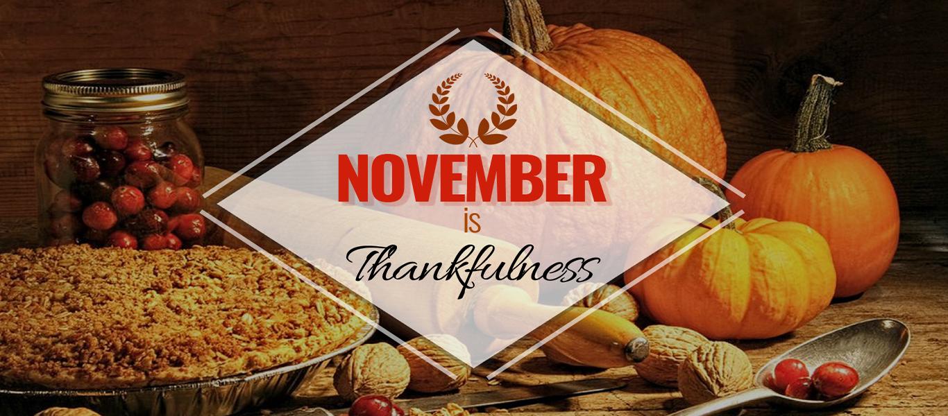 November is Thankfulness