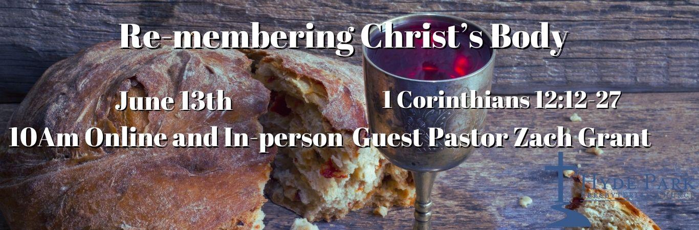 Re-membering Christ's Body Banner (1)