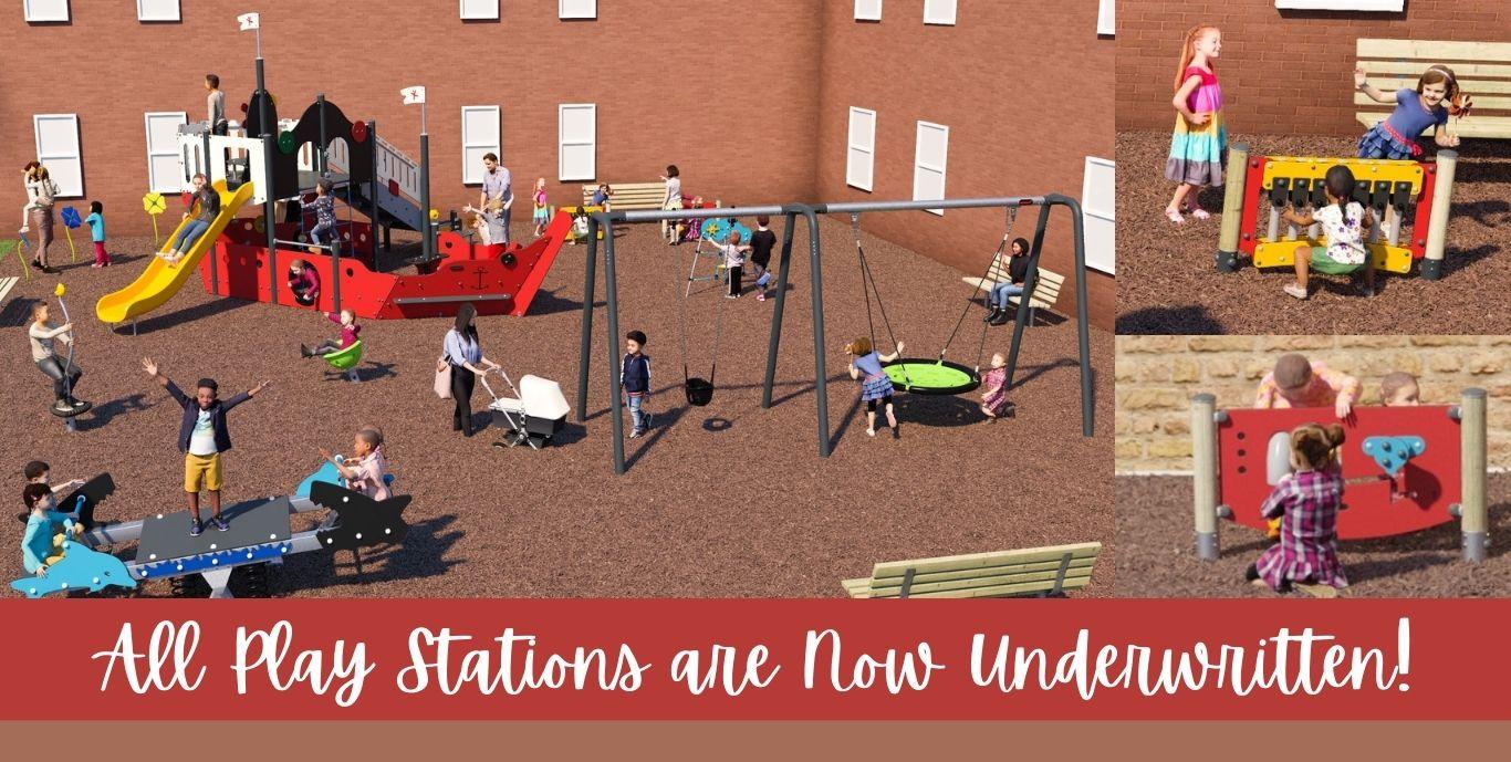 Underwritten Playground Slider