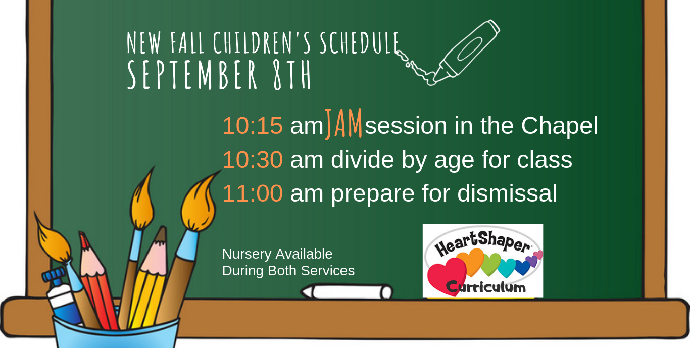 fall childrens schedule slider